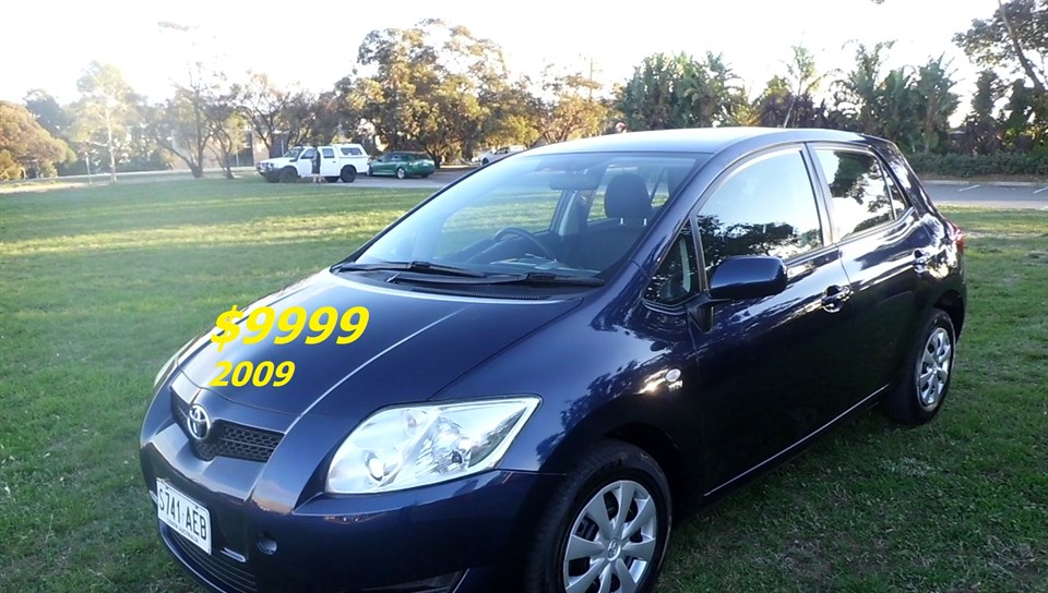 2009 TOYOTA COROLLA ASCENT ZRE152R 5D HATCHBACK