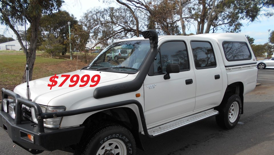 1999 TOYOTA HILUX (4x4) LN167R DUAL CAB P/UP